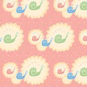 deco snails rose pink