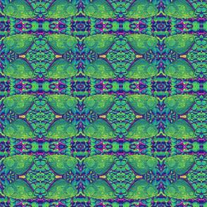 BUTTERFLIES ON THE ROCKS VIOLET TEAL GREEN