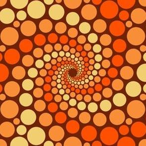 dot spiral 3 - pumpkin