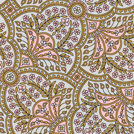 Basket Full Of Posies Paisley ~ Dauphine fabric by peacoquettedesigns on Spoonflower - custom fabric