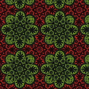 Bourgogne Tile ~ Christmas Apples