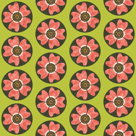 Deco Dog Rose ~ Usurper  fabric by peacoquettedesigns on Spoonflower - custom fabric