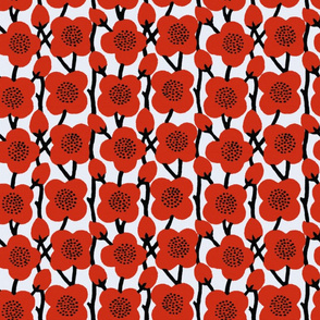 Deco Blooms ~ Poppies in Richelieu Red