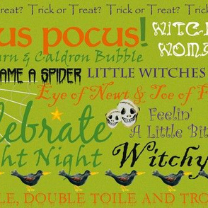 Witchy_Woman_Fright Type Chartreuse