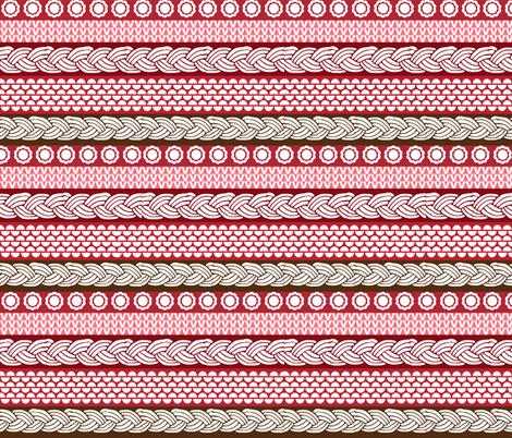 Candy Cane Cables fabric by graceful on Spoonflower - custom fabric