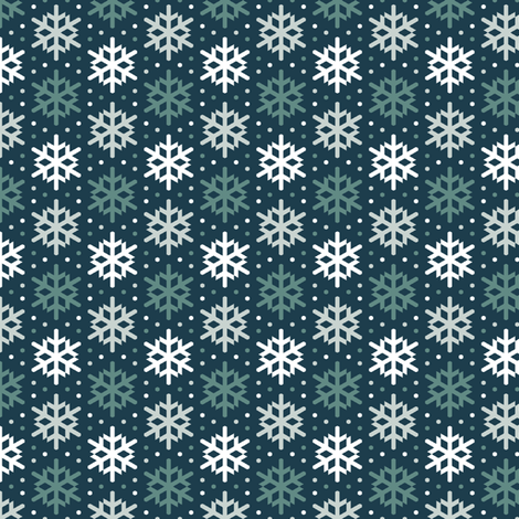 winter bird snow 3 fabric by sef on Spoonflower - custom fabric
