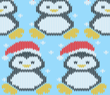penguin_v fabric by renateandtheanthouse on Spoonflower - custom fabric