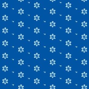 Snowflakes on Blue