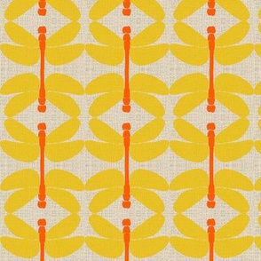 dragonfly linedance orange yellow