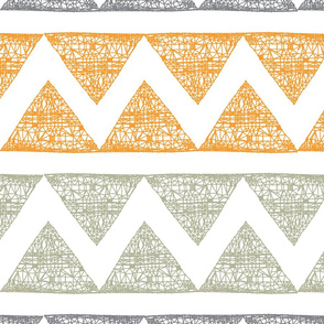 Illustrated chevron triangles