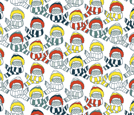 Skier Fashion fabric by pond_ripple on Spoonflower - custom fabric
