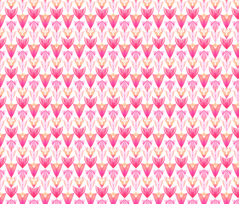 Watercolor Arrow Head Multi fabric by emilysanford on Spoonflower - custom fabric