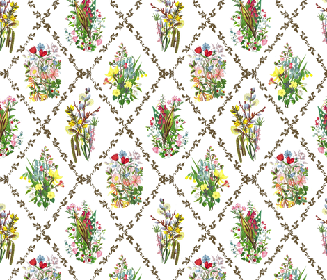 Floral Trellis fabric by ragan on Spoonflower - custom fabric
