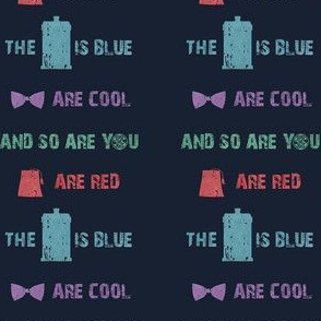 fezes are red the tardis is blue