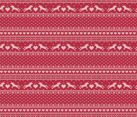 Christmas Unicorns  fabric by logan_spector on Spoonflower - custom fabric
