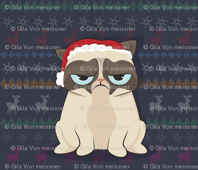 Grumpy Cat hates Christmas