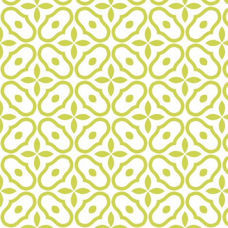 Little Mosaic - White and Vintage Green fabric by inscribed_here on Spoonflower - custom fabric