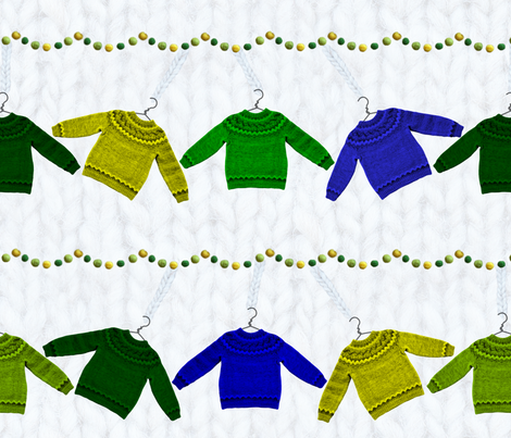 hanging sweaters fabric by karinka on Spoonflower - custom fabric