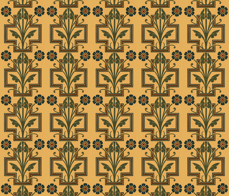 Art_Deco_Flower_Motif_1 fabric by mammajamma on Spoonflower - custom fabric