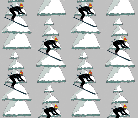 Skii fabric by kcmarie16 on Spoonflower - custom fabric