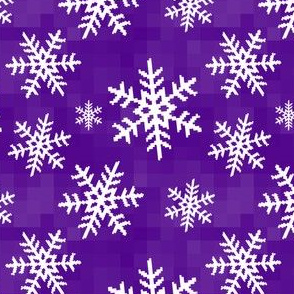 8-Bit Snow Flake - Purple