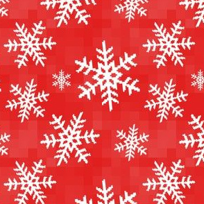 8-Bit Snow Flake - Red