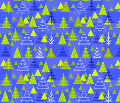 Night Trees fabric by sarah_nussbaumer on Spoonflower - custom fabric