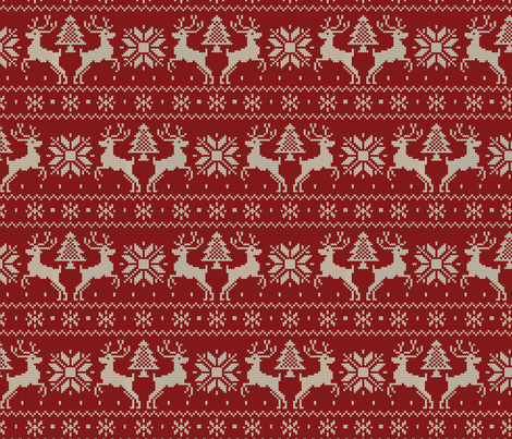 Dad's Ski Sweater fabric by jennartdesigns on Spoonflower - custom fabric
