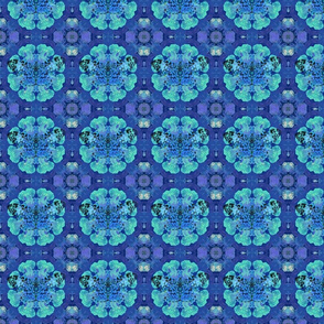 Butterfly on Blue Hydrangea