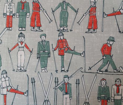 vintage ski linen