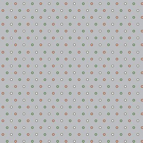 Happy Camper Tiny Dots in Grey/Melon/Green