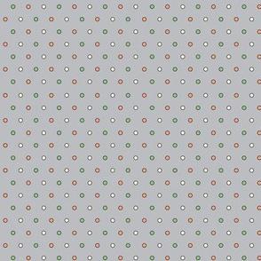 Happy Camper Tiny Dots in Grey/Melon/Green