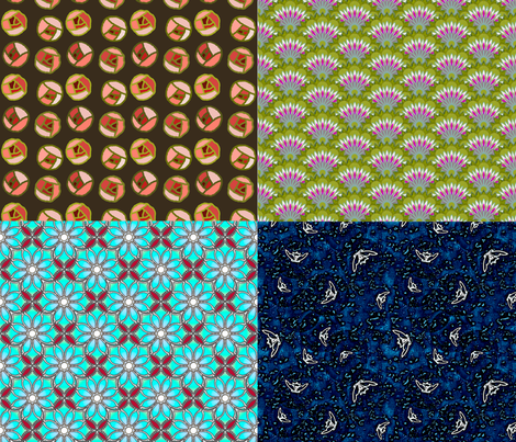 four seasons fat quarter bundle fabric by keweenawchris on Spoonflower - custom fabric