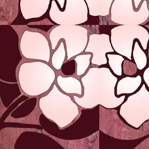 burgandy magnolia