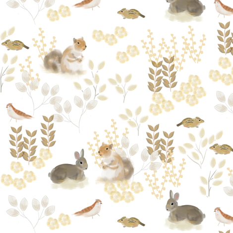 Woodland Friends fabric by susan_polston on Spoonflower - custom fabric