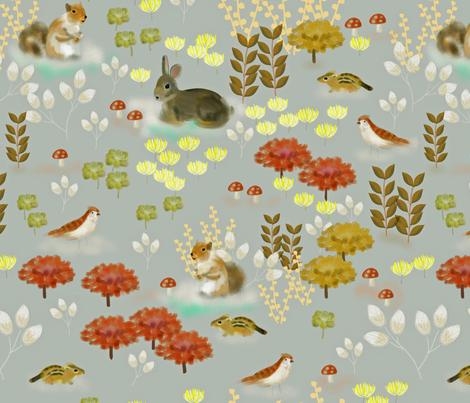 Woodland Friends fabric by susan_polston on Spoonflower - custom fabric