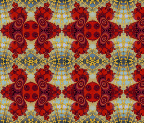 Fractal Swirls  fabric by elramsay on Spoonflower - custom fabric