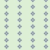 Cross Stitch Mint Navy