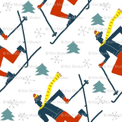 snowflake skiers