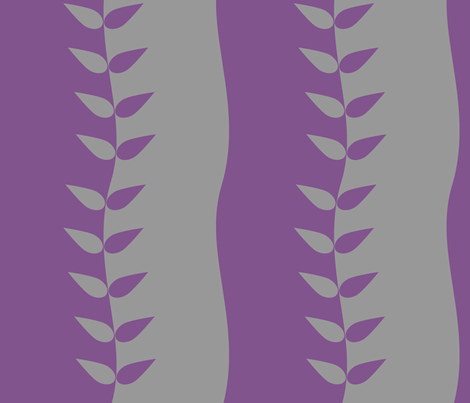 Purple and Grey Wavy Leaves fabric by carbonatedcreations on Spoonflower - custom fabric