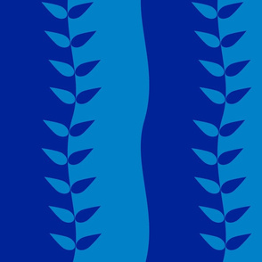 Blue Wavy Leaves