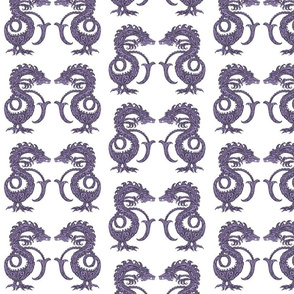 Dragons at Dawn - Dark Purple