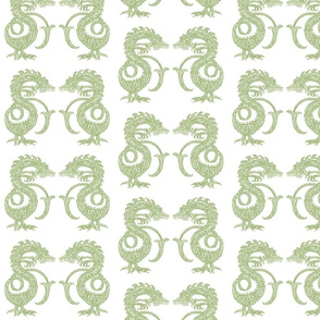 Dragons at Dawn - Soft Green