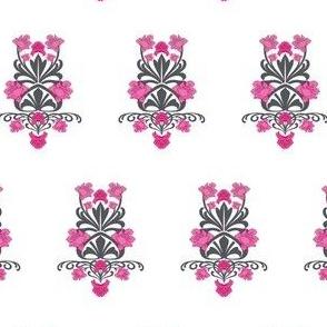 Pink Art Nouveau Damask
