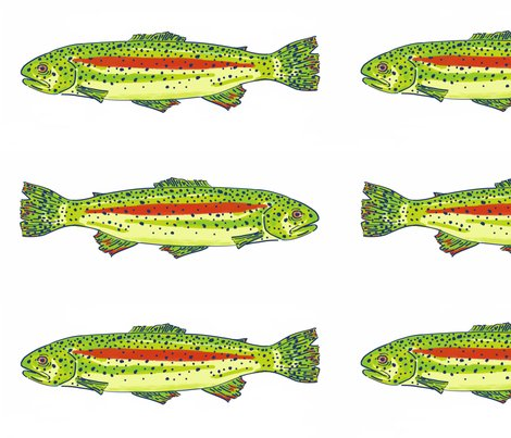 Rainbow trout fabric studiomme spoonflower for Rainbow fish fabric