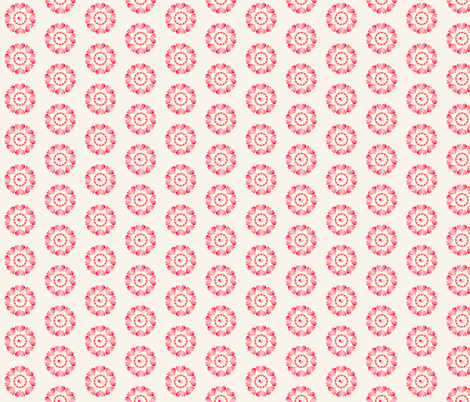 Heart Flowers - Neutral fabric by cmcreations on Spoonflower - custom fabric