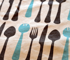 Sporks tea towel