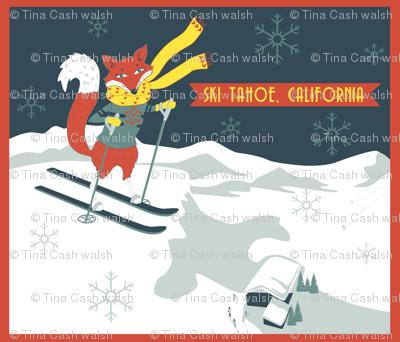 Sking_Fox_Tahoe_Retro_Poster
