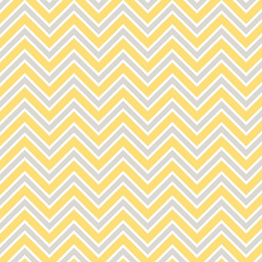 Chevron lemon yellow and gray