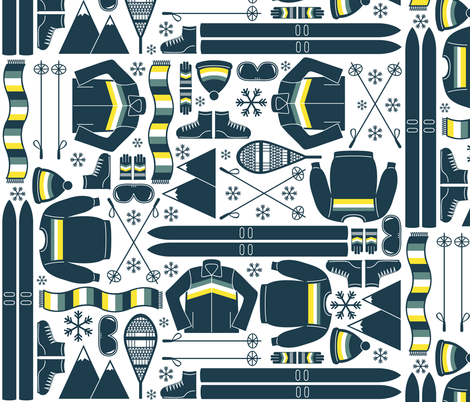 Old (Ski) School fabric by robyriker on Spoonflower - custom fabric